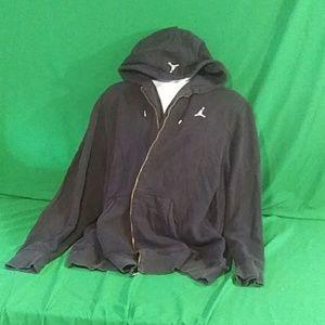 Jordan's xxl men's navy blue zip up hoodie.